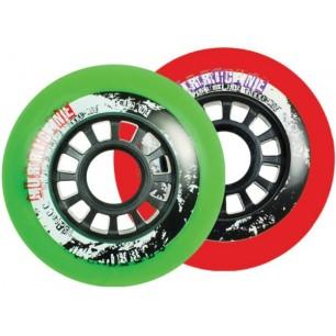 Колеса для роликовых коньков Powerslide harricane wheels 85A 4-pack