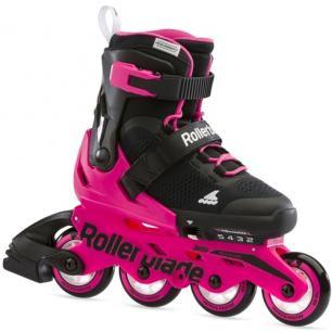 Ролики для дівчинки Rollerblade Microblade G Neon Pink 2021