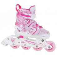 Ролики для девочки со светящимися колесами Tempish Swist Flash Pink