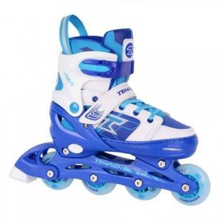 Ролики для мальчика со светящимися колесами Tempish Swist Flash Blue