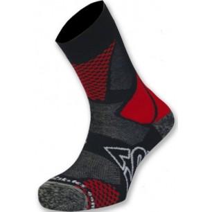 Носки для роликов K2 fitness skate socks black-red