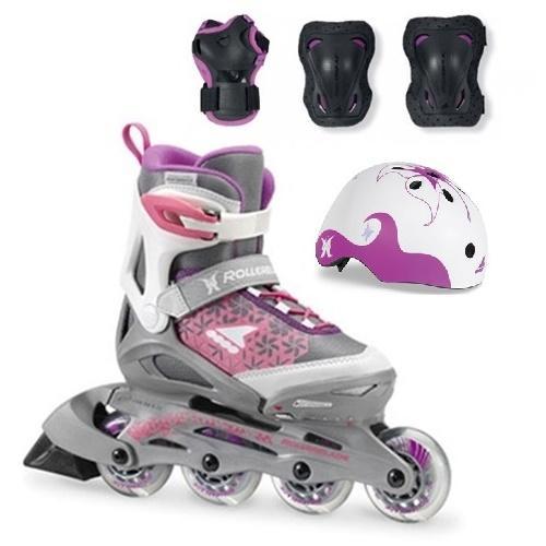 e9eb496ea3c0d4 Дитячі ролики для дівчаток Rollerblade Cube G повний комплект