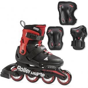 Детские ролики и защита Rollerblade Microblade Combo Red 2020