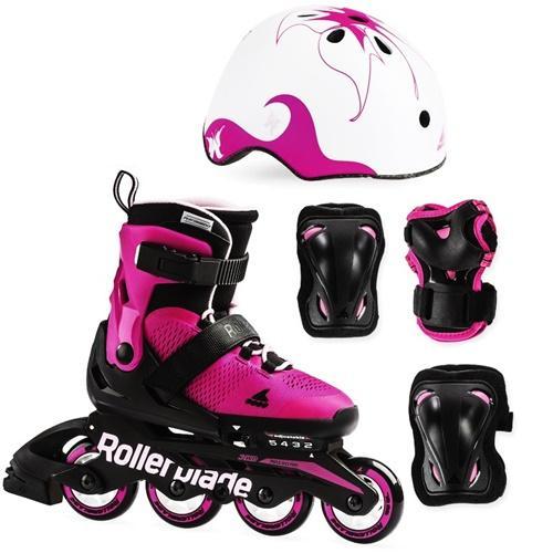 дитячі ролики Rollerblade з захистом та шоломом