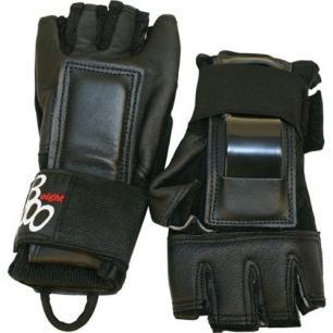 Кожаные защитные перчатки для роликов Triple Eight Hired Hands